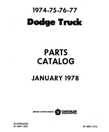 1974-77 DODGE TRUCK Body & Chassis, Text & Illustration