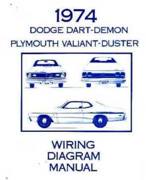 1974 DODGE DART & PLYMOUTH DUSTER & VALIANT Wiring Diagrams