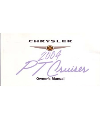 2004 CHRYSLER PT CRUISER Owners Manual