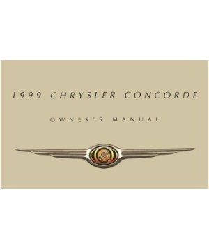 1999 CHRYSLER CONCORDE Owners Manual