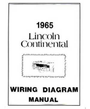 1965 LINCOLN CONTINENTAL Wiring Diagrams
