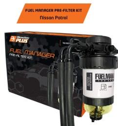 diesel fuel filter water separator pre filter for nissan patrol y61 gu 3 0l 4 2l [ 1600 x 1600 Pixel ]