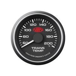 Saas Oil Pressure Gauge Wiring Diagram Two Light Transmission Temperature Temp 60 200 Black