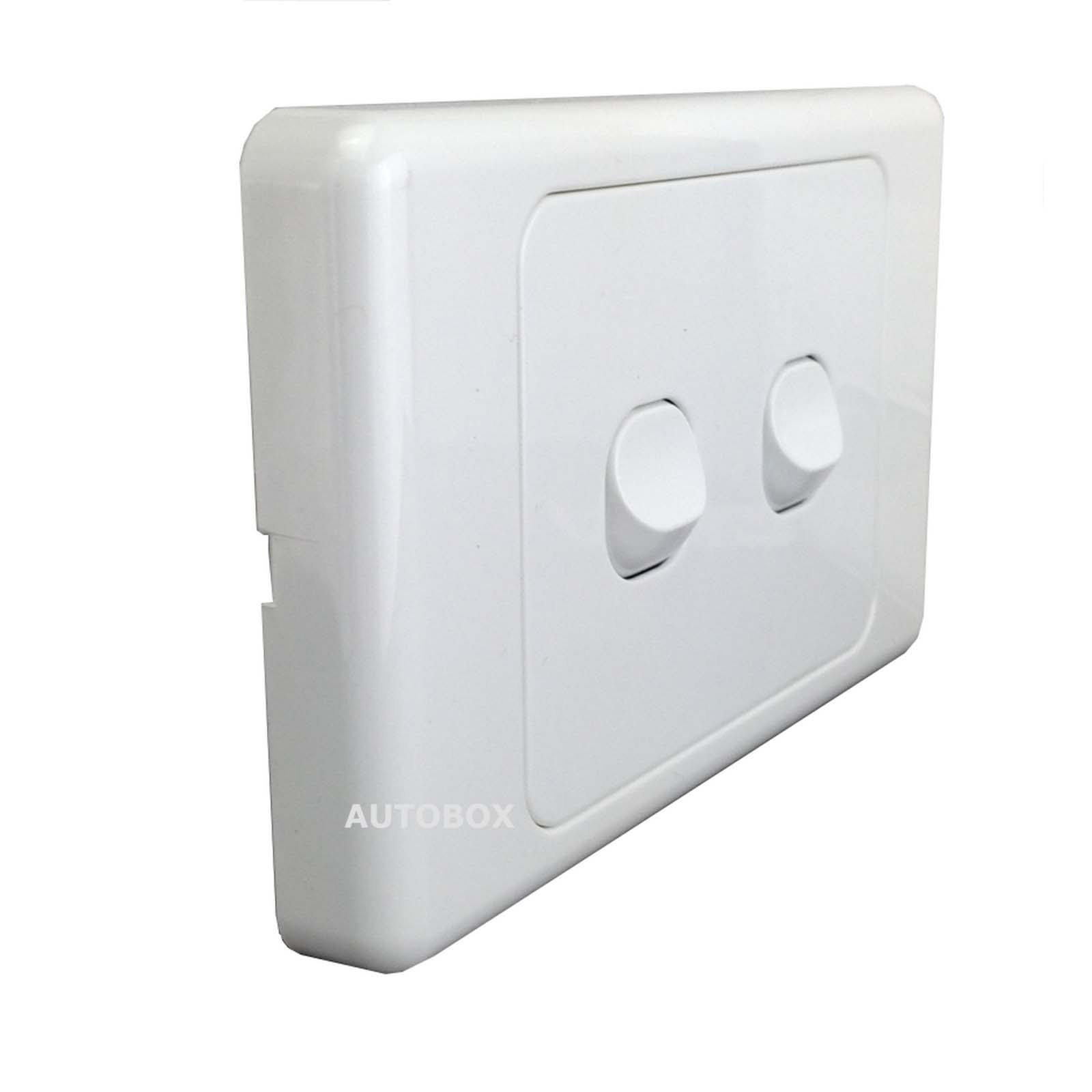 5 x Double Wall Power Switch Single Pole SAA Approved