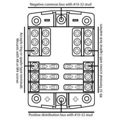 Narva Dual Battery Switch Wiring Diagram Wall Light Uk Caravan 6 Way 30 Amp Fuse Block Terminal Holder 12v 4wd