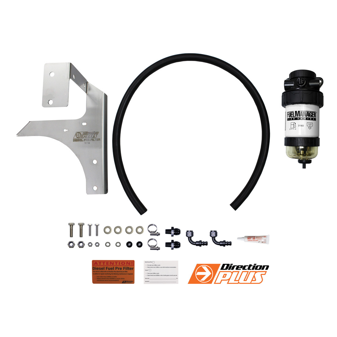 hight resolution of diesel fuel filter water separator suits mitsubishi triton ml mn with bracket