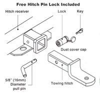 TOW BAR HITCH PIN LOCK TRAILER Jayco Hayman Reese Toyota