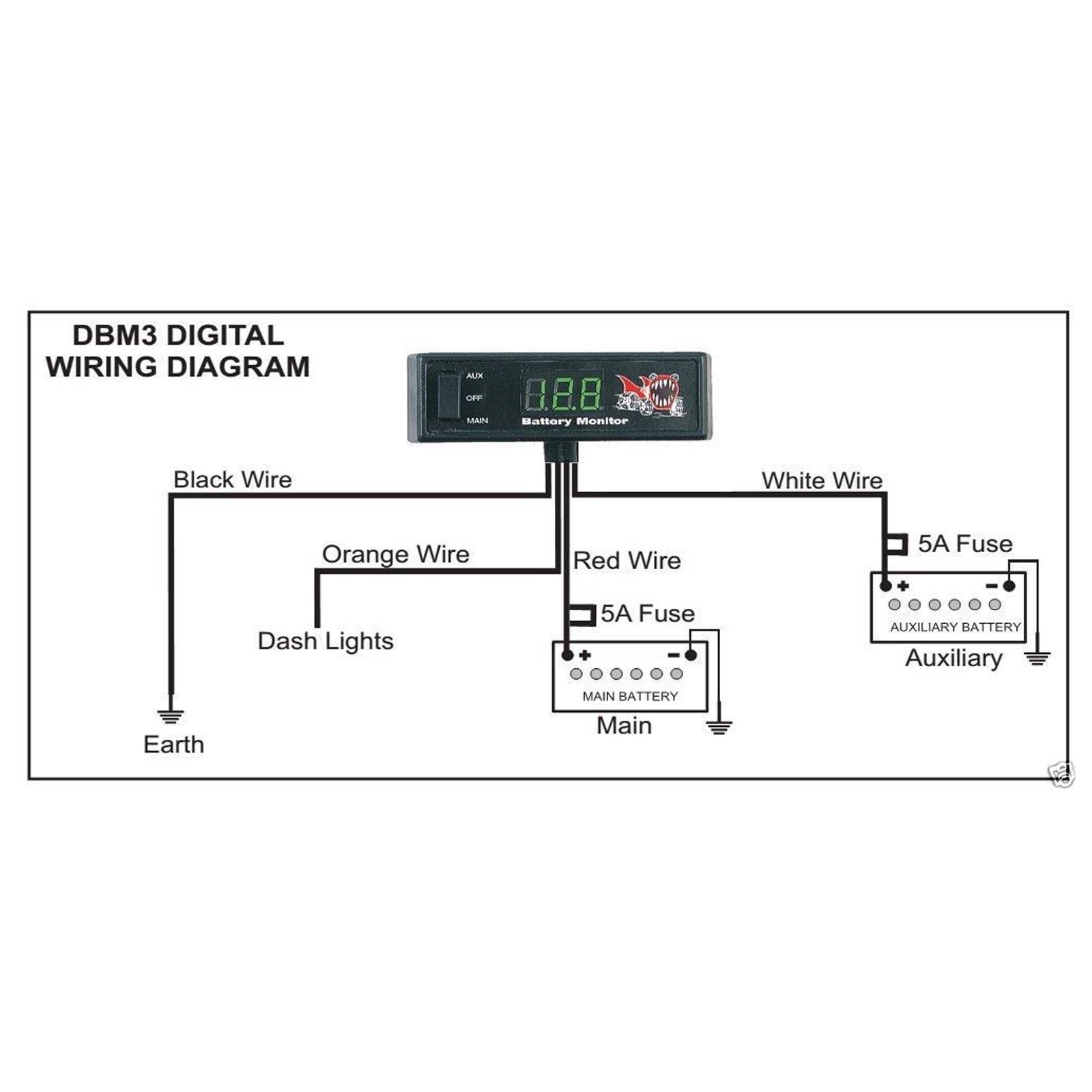 hight resolution of piranha dual battery system wiring diagram piranha dual battery system monitor 12volt digital display 4wd