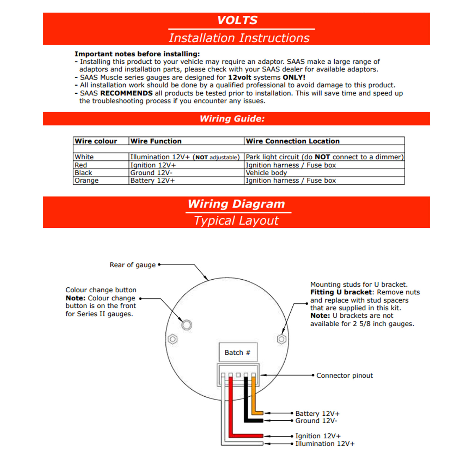 hight resolution of voltmeter gauge wiring wiring diagram basic saas 8 18 volts gauge white dial face voltmeter volt