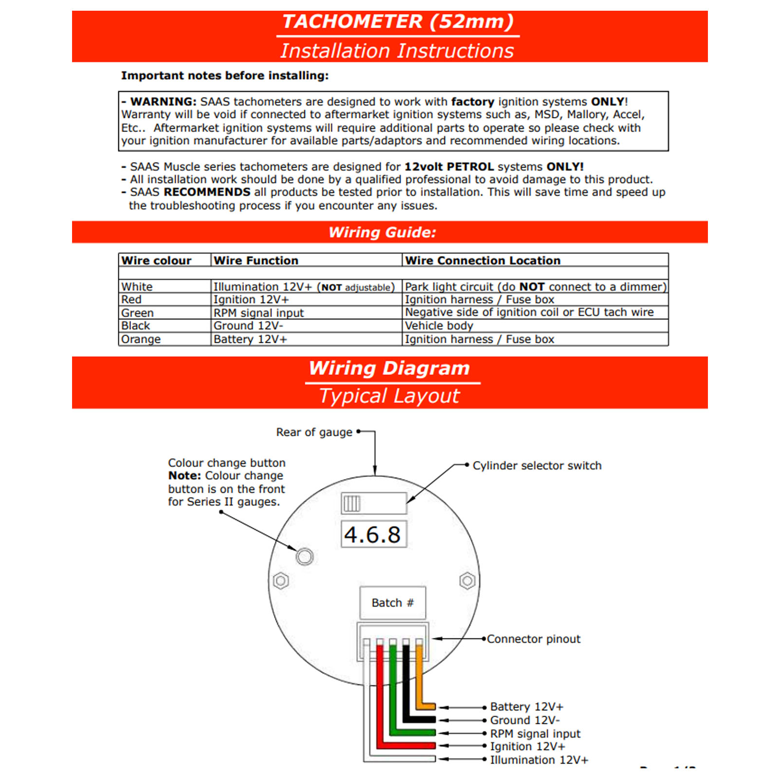 hight resolution of impulse tachometer wiring diagram