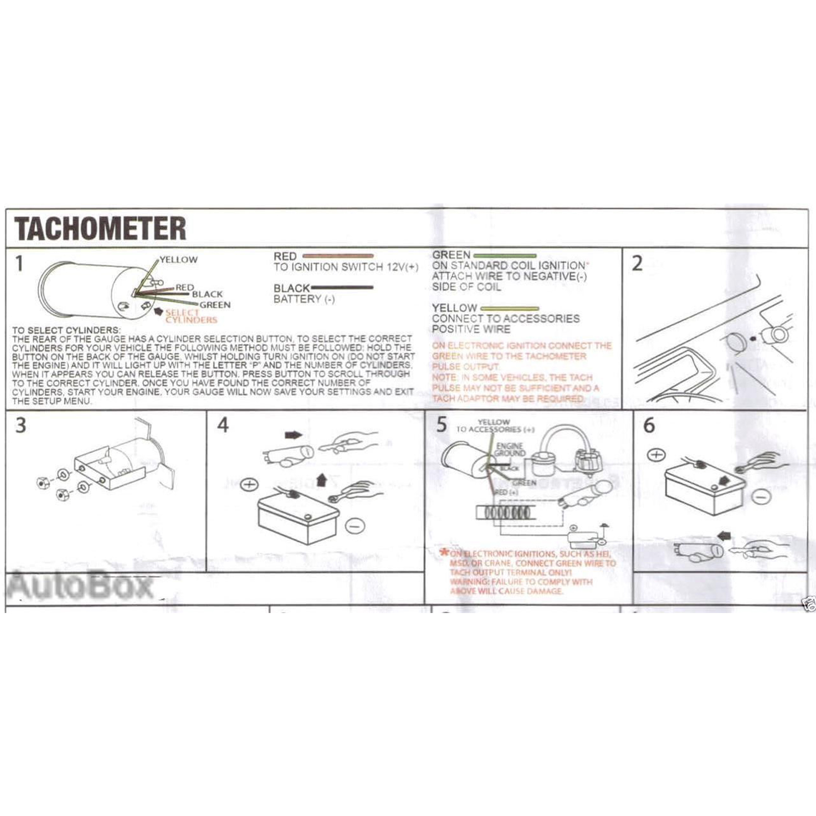 autotecnica water temp gauge wiring diagram 2004 toyota 4runner 10000 rpm tachometer electronic analog white face manufacturer