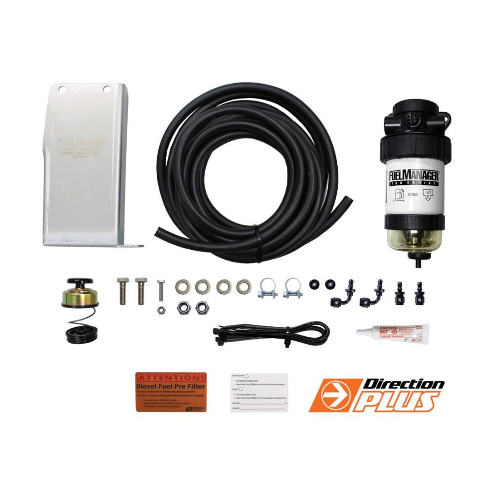 medium resolution of diesel fuel pre filter water separator isuzu dmax tf holden colorado rc bracket