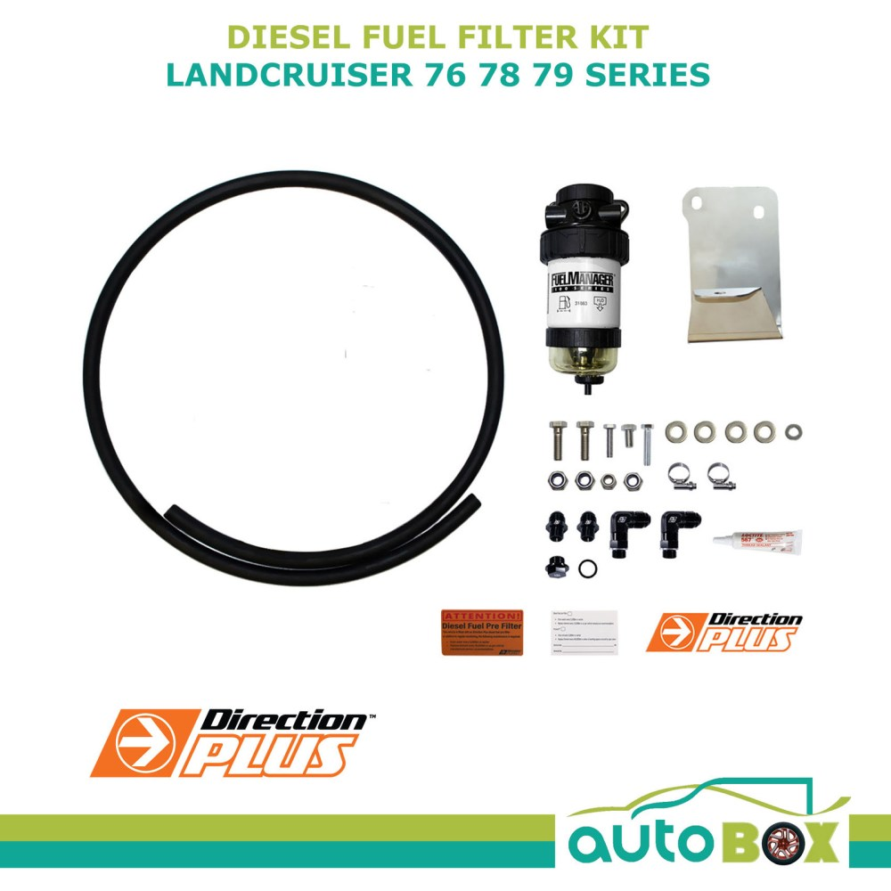medium resolution of diesel fuel filter water separator toyota landcruiser 75 78 79 inc bracket arb