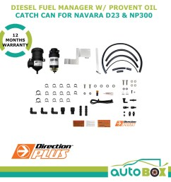diesel fuel manager provent oil catch can combo for nissan navara d23 np300 [ 1600 x 1600 Pixel ]