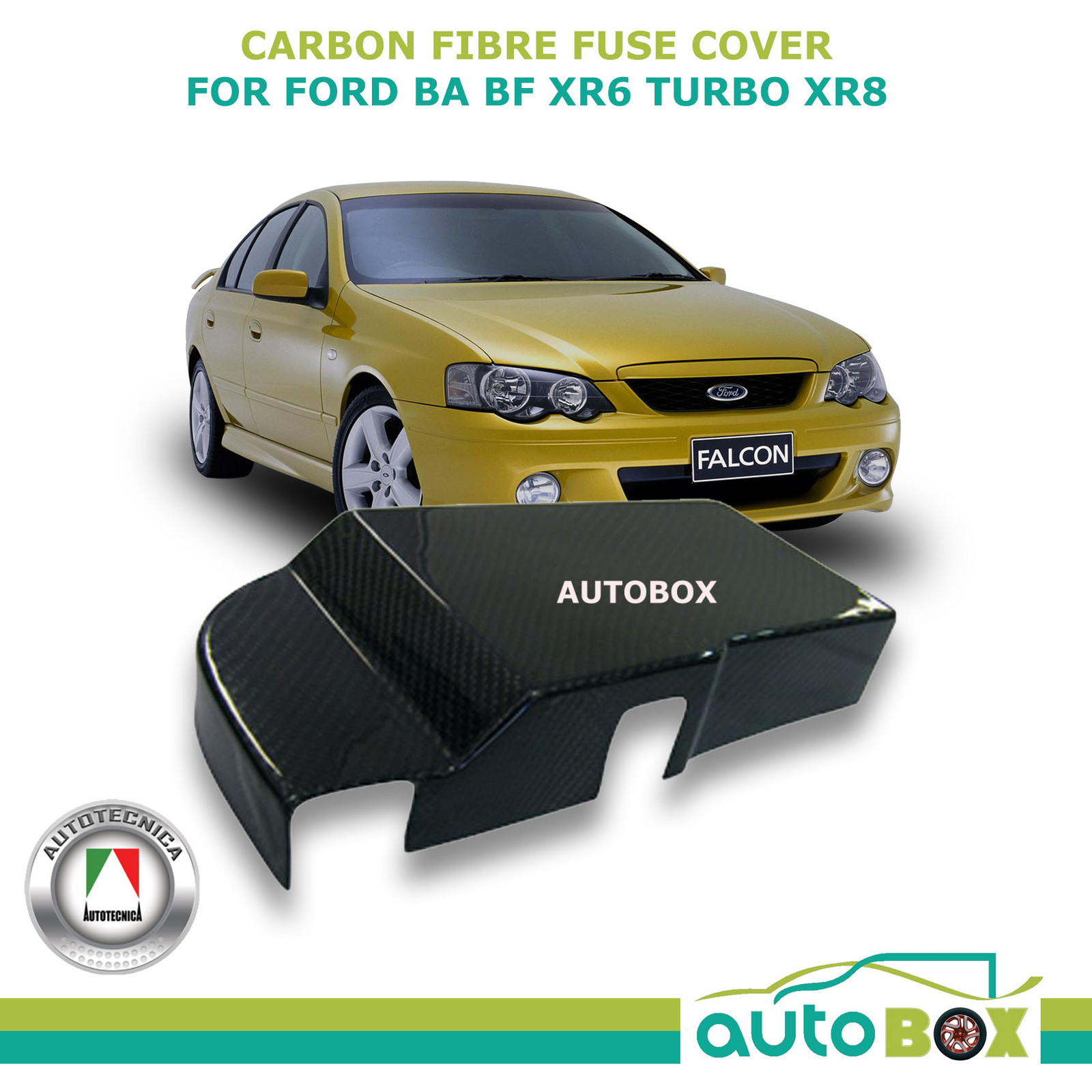 hight resolution of real carbon fibre fuse box cover ford ba bf xr6 turbo xr8 fpv gt gt p f6 typhoon