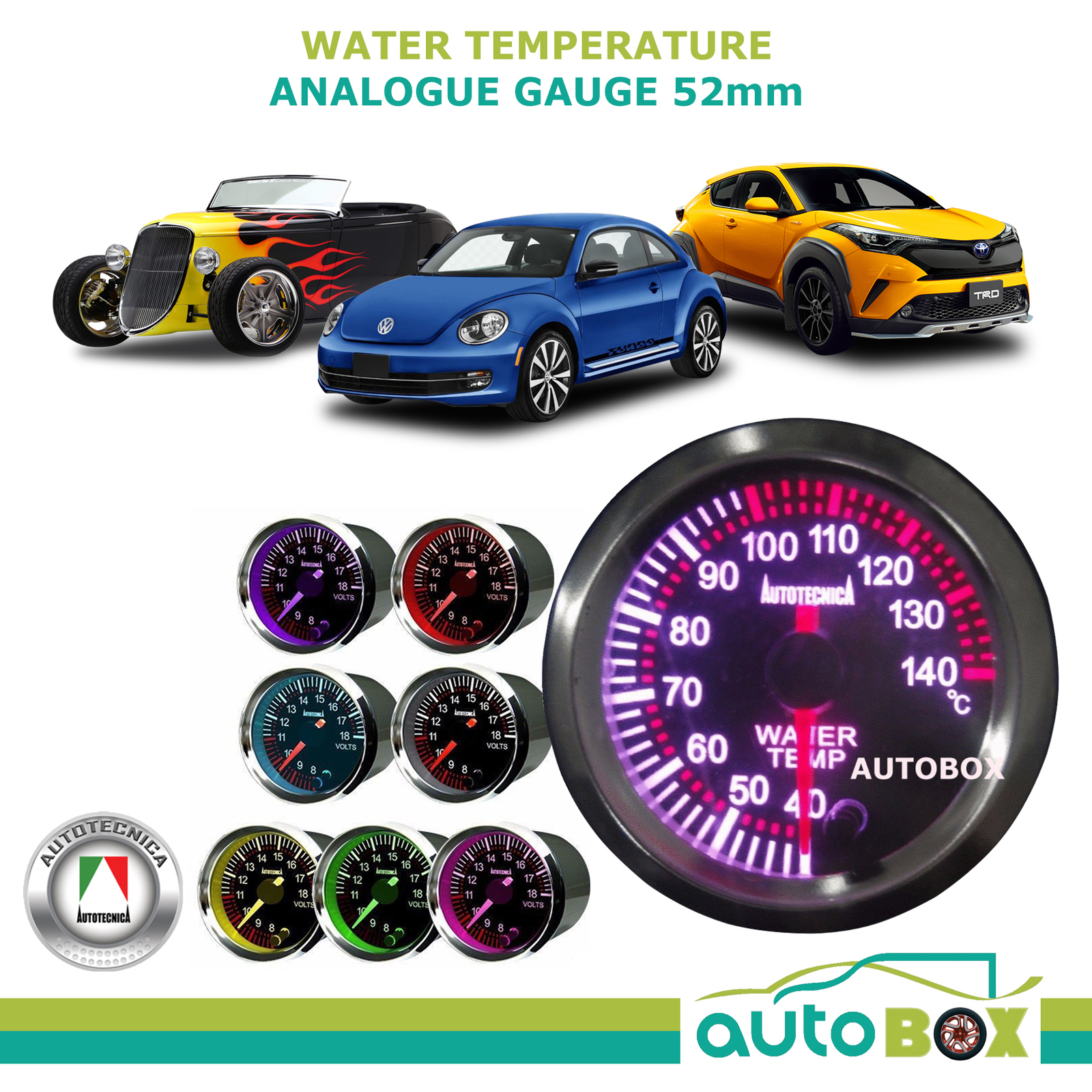 autotecnica water temp gauge wiring diagram volleyball play temperature analog electronic