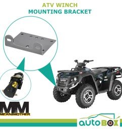 mean mother atv winch mounting bracket suits ew2500 and ew3500 series quad [ 1600 x 1600 Pixel ]