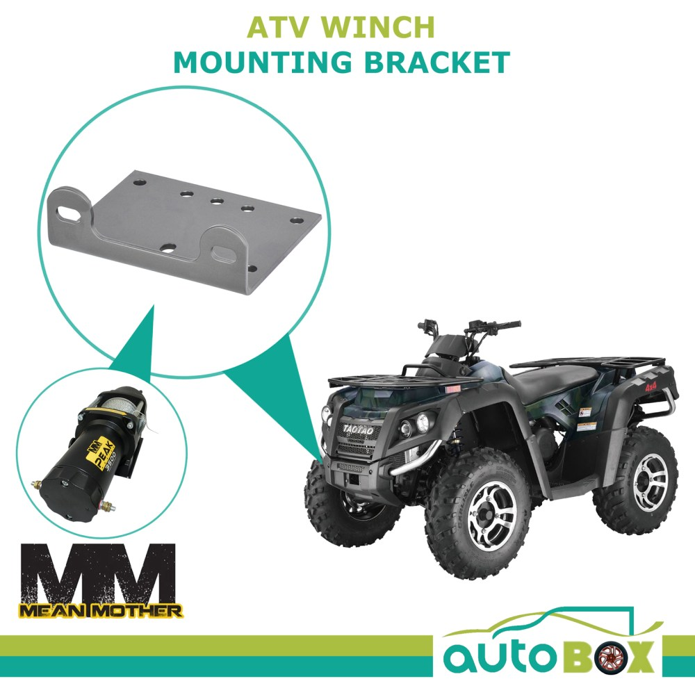 medium resolution of mean mother atv winch mounting bracket suits ew2500 and ew3500 series quad