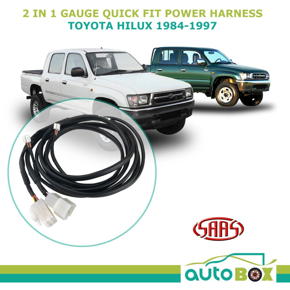 medium resolution of saas trax 2 in 1 gauge quick fit power harness for toyota hilux 1984 1997 surf