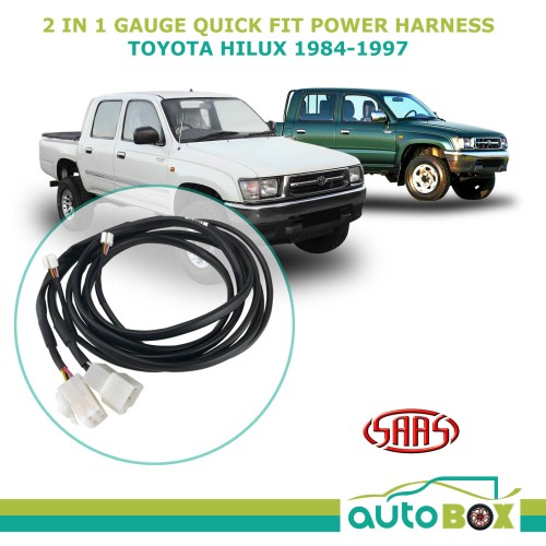 small resolution of saas trax 2 in 1 gauge quick fit power harness for toyota hilux 1984 1997 surf