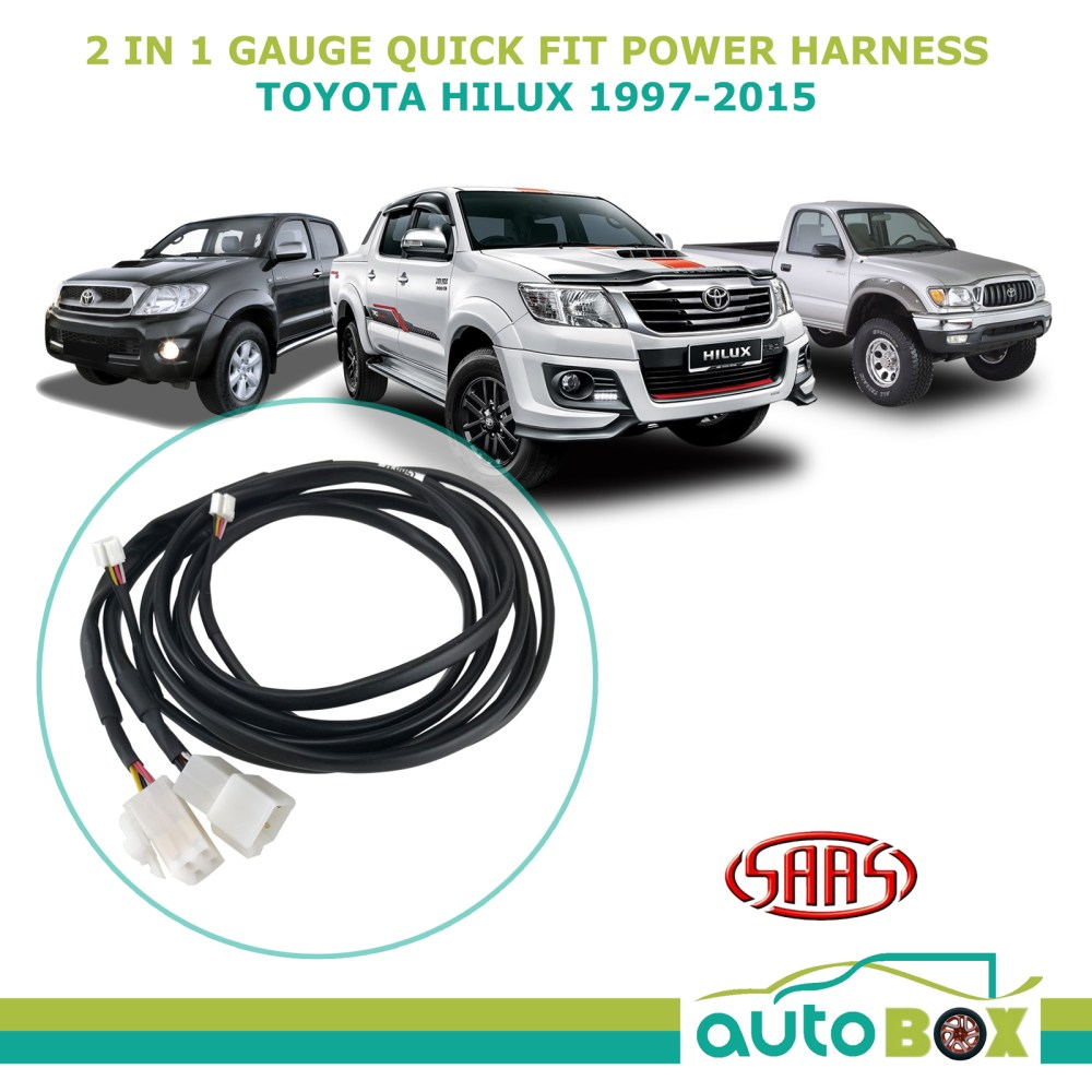 medium resolution of saas trax 2 in 1 gauge quick fit power harness for toyota hilux 1997 2015