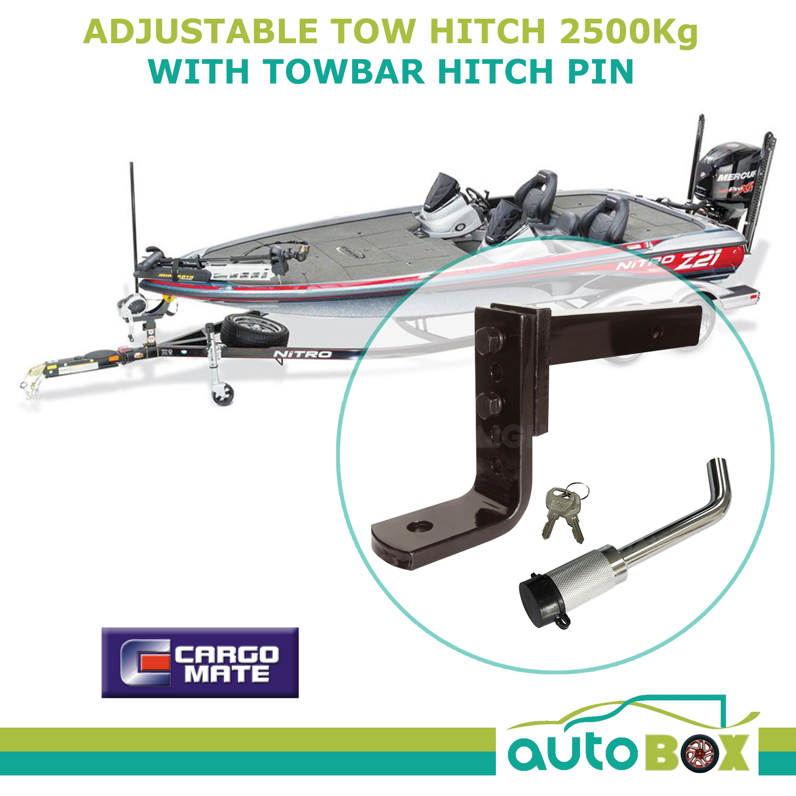 hight resolution of adjustable tow ball mount hitch trailer ride height leveler 2500kg with lock pin