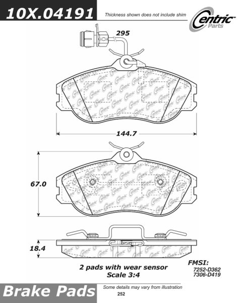 Front C-Tek Semi-Metallic Brake Pads 102.04191 [102.04191