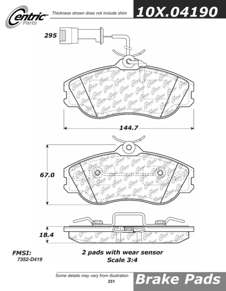 Front Axxis Ultimate Ceramic Brake Pads With Girling