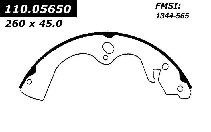 Rear New C-Tek Brake Shoes Mazda 110.05650 [110.05650