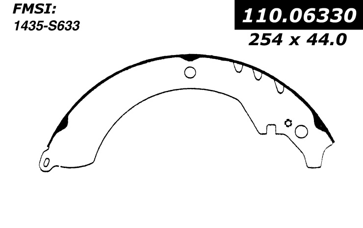Rear Centric Brake Shoes Daihatsu Rocky 111.06330 [111