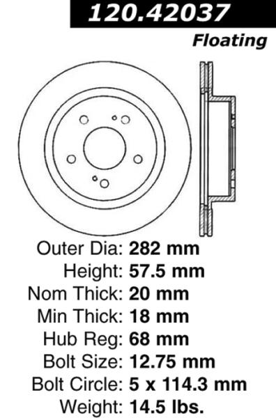 Rear C-Tek Brake Rotor Nissan 300ZX 121.42037 [121.42037