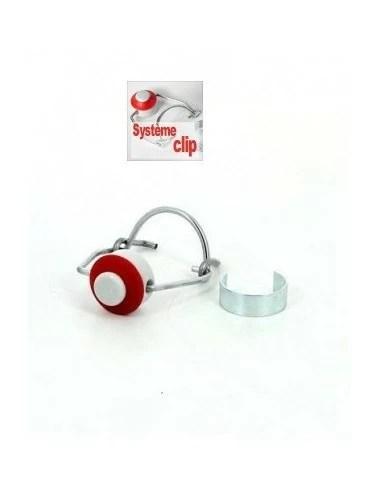 10 bouchons mecanique systeme clip