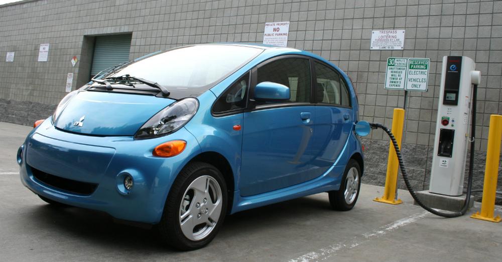 2016 light Blue Mitsubishi i-MiEV