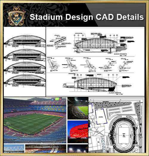 ☆【stadium cad design stadium gymnasium track and field