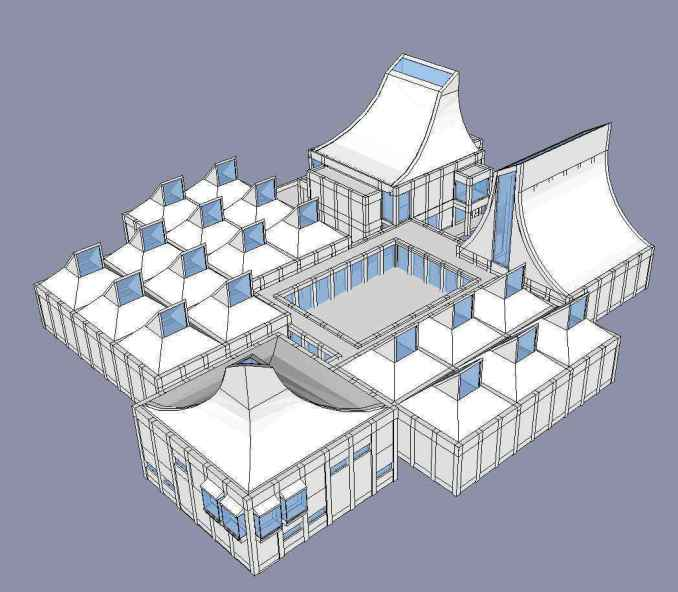 Download 2 Projects of Jorn Utzon Architecture Sketchup 3D Models(* skp  file format)