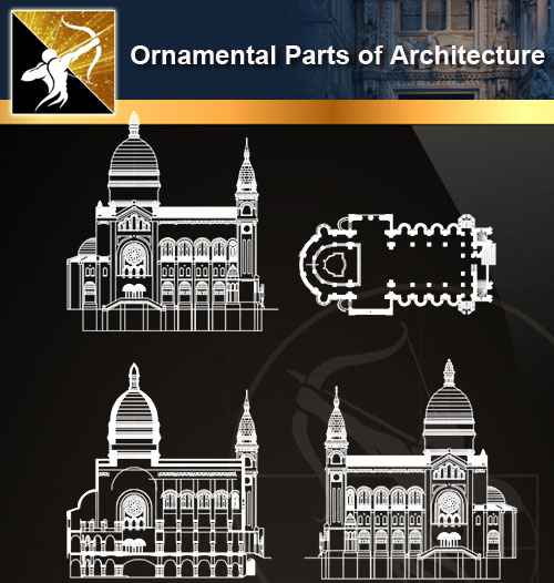 ★【Ornamental Parts of Architecture -Decoration Element CAD Blocks  V 5】@Autocad Decoration Blocks,Drawings,CAD Details,Elevation - Autocad  Design