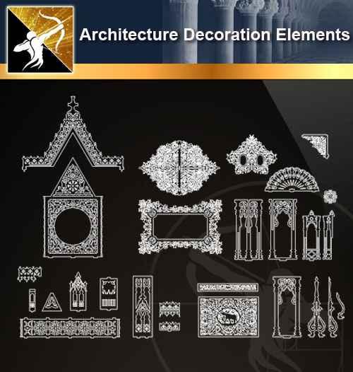 ☆【 Free Architecture Decoration Elements V 12】@Autocad Decoration