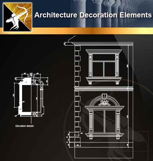 ☆【 Free Architecture Decoration Elements V 14】@Autocad
