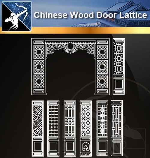 ★【 Chinese Door Lattice CAD Blocks】@Autocad Blocks,Drawings,CAD Details,Elevation