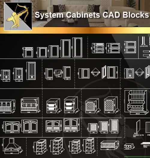 ★【 System Cabinets CAD Drawings V 1】@Autocad Blocks,Drawings,CAD  Details,Elevation - Autocad Design Pro-Autocad Blocks,Drawings Download