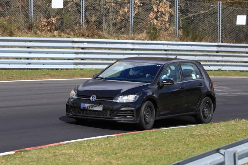 small resolution of 2019 volkswagen golf mk8 first pictures of mule show new cabin tech autocar