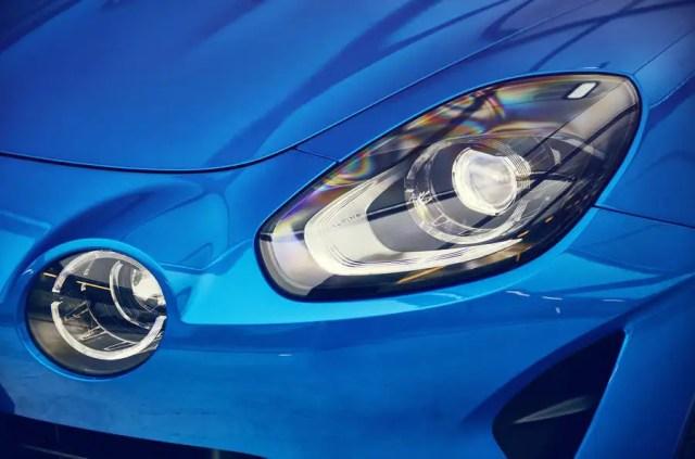 Alpine A110 headlights