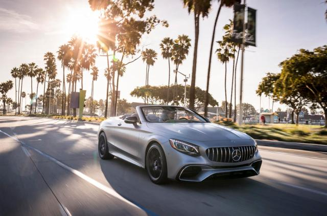 Mercedes-AMG S63 Cabriolet on the road