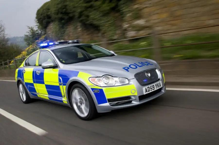 Police Car Flashing Blue Light