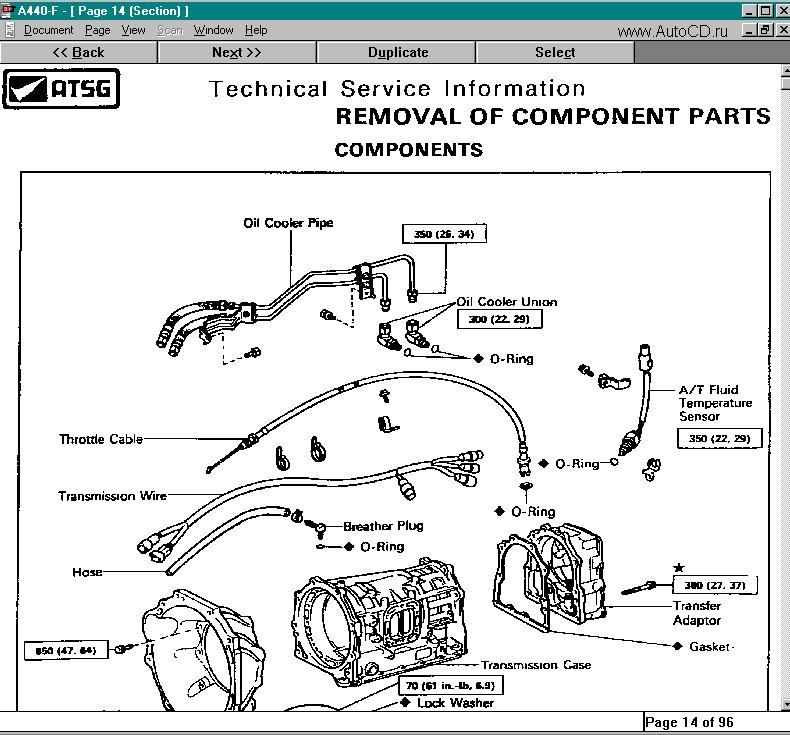 Ремонтный каталог фирмы Automatic Transmision Service
