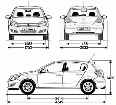 Opel Astra H Hatchback 5d • Dane techniczne • AutoCentrum.pl