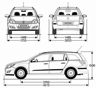 Opel Astra H Kombi • Dane techniczne • AutoCentrum.pl