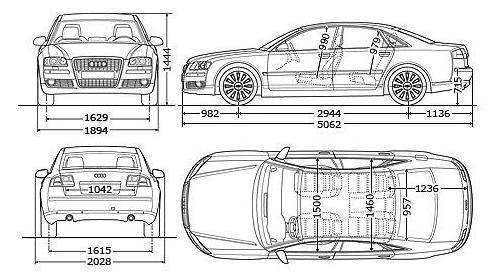 Audi A8 D3 Sedan • Dane techniczne • AutoCentrum.pl