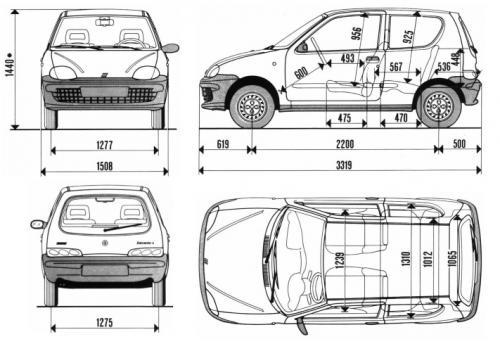 Fiat Seicento Hatchback 3d • Dane techniczne • AutoCentrum.pl