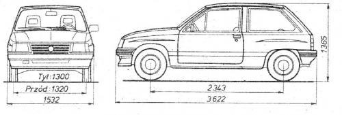 Opel Corsa A Hatchback • Dane techniczne • AutoCentrum.pl